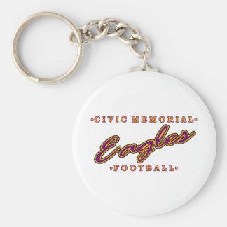 Fútbol conmemorativo cívico llavero redondo tipo pin