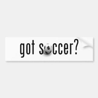 ¿fútbol conseguido? etiqueta de parachoque