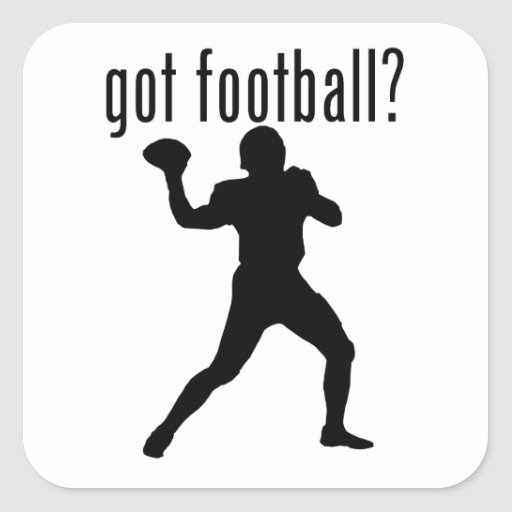 ¿fútbol conseguido? pegatina cuadrada