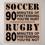 Fútbol contra rugbi póster