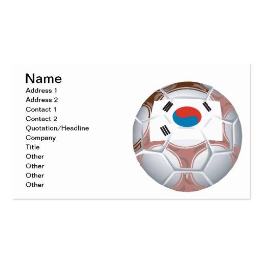Fútbol coreano tarjeta personal