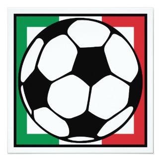 futbol. cuadrado de Italia. balón de fútbol Invitación 13,3 Cm X 13,3cm