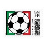 futbol. cuadrado de Italia Estampilla