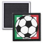 futbol. cuadrado de Italia Imán De Frigorífico