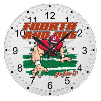 Fútbol cuarto y uno relojes