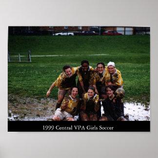 Fútbol de 1999 chicas de CVPA Póster