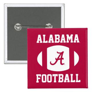 Fútbol de Alabama Pin Cuadrado