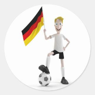 Fútbol de Alemania Etiqueta Redonda