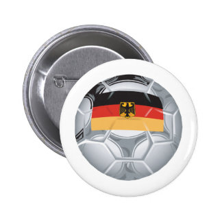 Fútbol de Alemania Pin Redondo De 2 Pulgadas