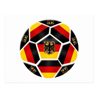 Fútbol de Alemania Tarjeta Postal