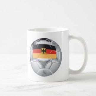 Fútbol de Alemania Taza Básica Blanca