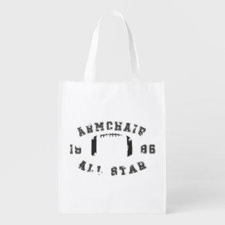 Fútbol de All Star de la butaca Bolsas Para La Compra