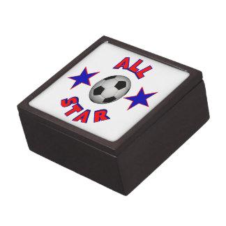 Fútbol de All Star Caja De Recuerdo De Calidad