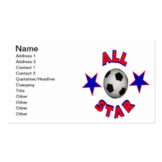 Fútbol de All Star Tarjetas De Visita