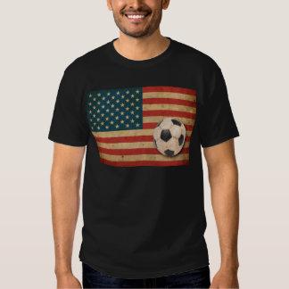 Fútbol de América del vintage Remeras