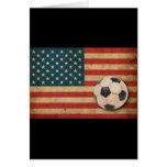 Fútbol de América del vintage Tarjeta De Felicitación