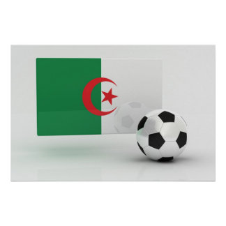 Fútbol de Argelia Póster