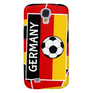 Fútbol de bandera alemán funda para galaxy s4