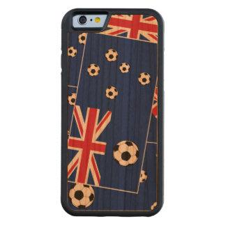 Fútbol de bandera australiano funda de iPhone 6 bumper cerezo