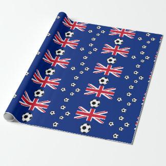 Fútbol de bandera australiano papel de regalo