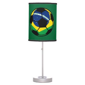 Fútbol de bandera brasileño lámpara de escritorio