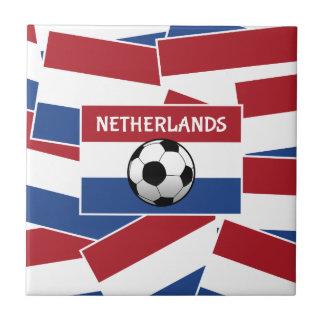 Fútbol de bandera holandés azulejo cuadrado pequeño