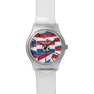 Fútbol de bandera holandés reloj