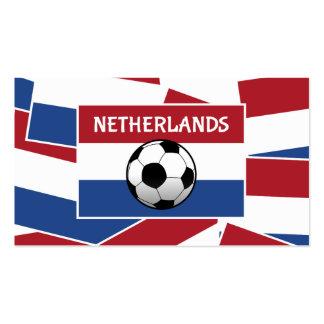 Fútbol de bandera holandés tarjetas de visita