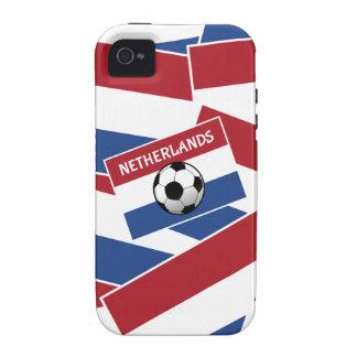 Fútbol de bandera holandés vibe iPhone 4 carcasa