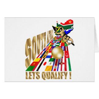 Fútbol de calificación del fútbol de Suráfrica Tarjeton