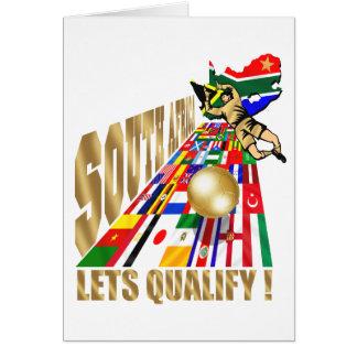 Fútbol de calificación del fútbol de Suráfrica Tarjetas