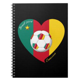 """Fútbol de Camerún, Soccer """"CAMEROUN"""" FOOTBALL Team Libros De Apuntes Con Espiral"""