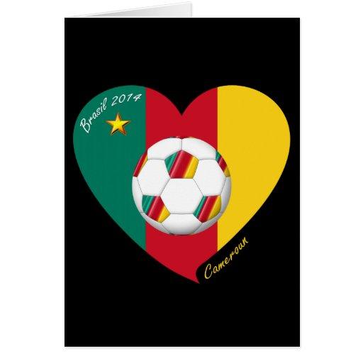 "Fútbol de Camerún, Soccer ""CAMEROUN"" FOOTBALL Team Felicitaciones"