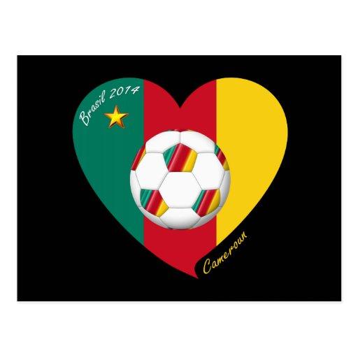 "Fútbol de Camerún, Soccer ""CAMEROUN"" FOOTBALL Team Tarjeta Postal"