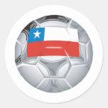 Fútbol de Chile Pegatinas Redondas