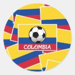 Fútbol de Colombia Pegatina Redonda