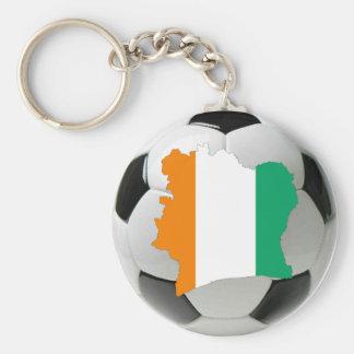 Fútbol de Costa de Marfil Llavero Personalizado