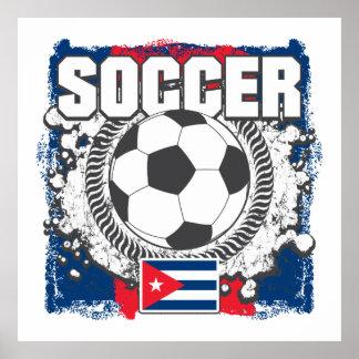 Fútbol de Cuba del Grunge Impresiones