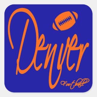 Fútbol de Denver Calcomanía Cuadradas Personalizadas