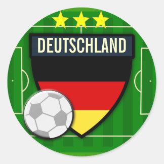 Fútbol de Deutschland Alemania Pegatinas Redondas