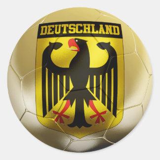 Fútbol de Deutschland Etiquetas Redondas