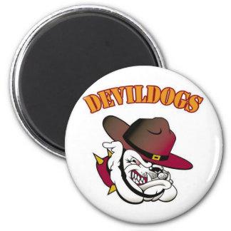 Fútbol de Devildogs Iman Para Frigorífico
