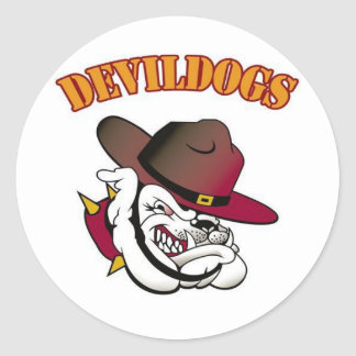 Fútbol de Devildogs Etiqueta Redonda