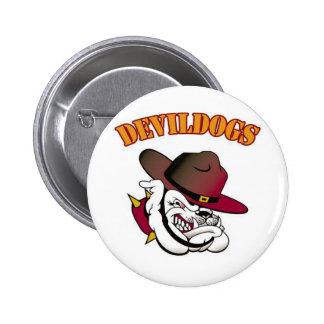 Fútbol de Devildogs Pin