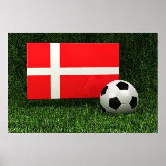 Fútbol de Dinamarca Póster