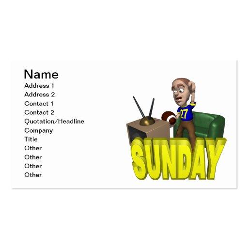 Fútbol de domingo tarjeta de negocio