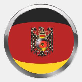 Fútbol de Eagle Alemania Fussball Deutschland Adle Etiquetas Redondas