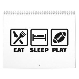 Fútbol de Eat Sleep Play Calendario