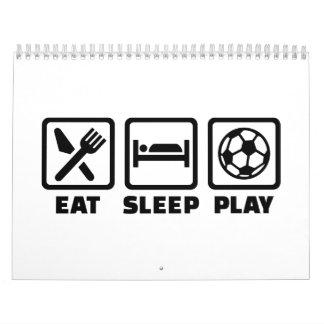 Fútbol de Eat Sleep Play Calendarios