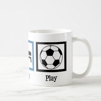 Fútbol de Eat Sleep Play Taza De Café